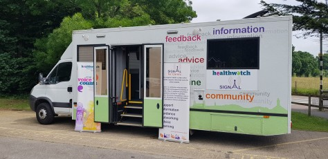 Signal 4 Carers Bus at Broomhall Lane Recreation Ground