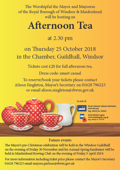 Mayor's Afternoon Tea 25th October 2018