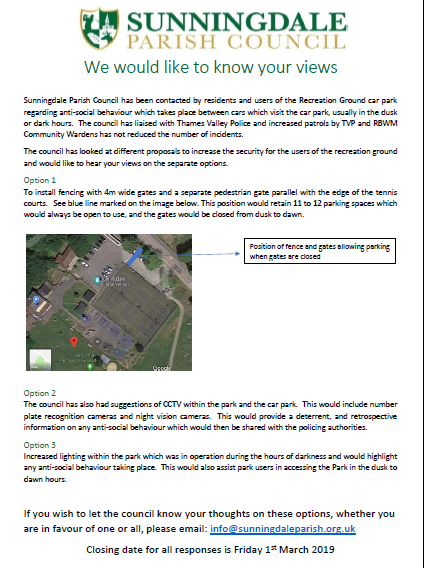 Request for public views on security measures at the Recreation Ground